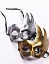 Mascara Festival/Celebracion Traje de Halloween Dorado / Plateado Mascara Halloween / Carnaval Unisex PVC