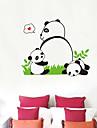 Panda Motif autocollant de mur (1PCS)