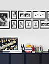 Contemporary Gallery Black Collage Wall Picture Frames, Set of 10