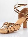 Scarpe da ballo - Non personalizzabile - Donna - Latinoamericano / Sala da ballo - Tacco spesso - Satin - Leopardo