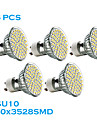 Lampada de Foco GU10 2.5 W 240 LM 2700K K Branco Quente 60 SMD 3528 5 pcs AC 220-240 V MR16