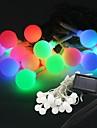 20-ledda solenergi boll form fairy sträng ljus lampan 9m för inredning