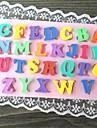 lettre majuscule multicolore en forme de cuisson de moule a cake fandant (l10cm * * w6.5cm h0.7cm)