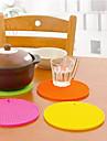 Dessous de silicone de forme ronde (couleurs assorties)