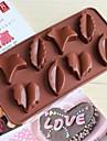 feuilles forme gateau moule de gelee de glace moules a chocolat, silicone 21,5 × 10,2 × 3 cm (8,5 x 4,0 x 1,2 pouces)