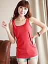 Sonsee ® femei Wild I în formă de guler Vest Round Leisure Vest bottom-Shirt
