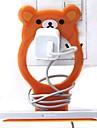 lilla björnen formad plast mobiltelefon laddningshållare (slumpmässig färg) x 1 st