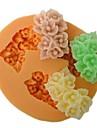 în formă de floare trei găuri mucegai tort fondant coace, l6cm * w5.3m * h1.5cm