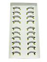 10pairs mörka handgjorda halvfigur ögon slut högklassig fiber lösögonfransar