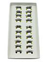 10pairs fin de l\'oeil demi-longueur des fibres de grande classe faux cils main noir