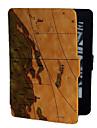 brun bakgrund världskartan mönster pu läderfodral för Kindle Paper