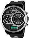 Skmei® Men's Watch Big Dial Three Time Zones 50M Waterproof Cool Watch Unique Watch