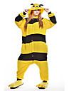 kigurumi Pyjamas Abeille Collant/Combinaison Fete / Celebration Pyjamas Animale Halloween Jaune Mosaique Polaire Kigurumi Pour Unisexe