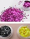 12 färger glitter runda paljetter nail art dekorationer (3mm, slumpvis färg)