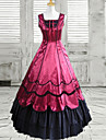 Charming Girl Floor-length Wine Red Polyester Classic Lolita Dress