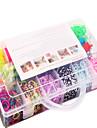 curcubeu colorat set benzi război de țesut de 13 celule de cauciuc multicolore familial banda stabilit (4200 buc) și conector
