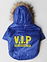 Cool VIP Pattern Cotton-Padded Hoodies T-Shirt for Pets Dogs (Blue Assorted Sizes)