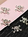 10st punk skallen klar kristall strass 3d legering nail art dekoration