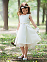 Sheath / Column Knee-length Flower Girl Dress - Silk Halter with