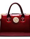 Women\'s New Patent Leather Diamond Embossed Handbag