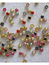 50PCS 4mm Colorful Pearl Metal Lipping Nail Art Decorations