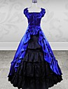 Sleeveless Floor-length Purple and Black  Cotton Classic Lolita Dress