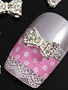 10st 3d glitting strass fluga diy legering tillbehör för fingertopparna nagel konst dekoration