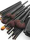 32PCS New Professional Goat Hair Black Handle Makeup Brush With Free Case
