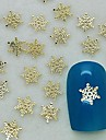 200PCS Charm Snow Flake Shape Golden Metal Slice Nail Art Decoration