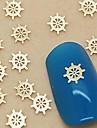 200st gyllene båt roder metallskiva nagel konst dekoration