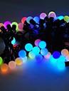 marsing® jul dekorativa 5m 8w 50-ledda blixtlägen festival boll parti flerfärgade ljuslist - (ac110-220v)