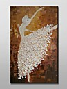 Hand Painted Dancer Modern Abstract Oil Painting with Stretched Frame Ready to Hang