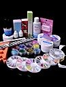 36PCS Glitter UV Gel Cleanser Primer Nail Art Kit Set