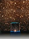 projecteur de ciel etoile colore lumiere de nuit LED (couleur aleatoire, alimente par 3 piles AA)