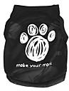 Katter / Hundar T-shirt Svart Hundkläder Vår/Höst Tecknat
