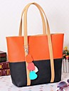 Damă PU Casual Tote Multi-Color
