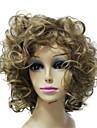 capless qualite superieure synthetiques blonds boucles courte perruque synthetique bang complet