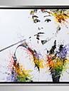 inramade arbetsytan konst, stänk färg Audrey Hepburn med sträckt ram
