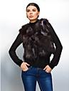 Elegant Sleeveless Fox Fur Evening/ Career Vest