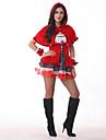 Costumes de Cosplay Costume de Soiree Conte de Fee Fete / Celebration Deguisement d\'Halloween Rouge Mosaique Robe ChapeauHalloween
