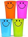 multi-fonctions en plastique visage souriant brosse a dents tasse 360ml (couleur aleatoire)