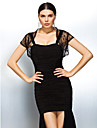 Wedding  Wraps Coats/Jackets Short Sleeve Lace Black Party/Evening / Casual 30cm Capped Open Front