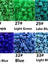 environ 500 pieces / perles Perler sac de 5mm fusionnent perles perles hama safty eva materiel pour les enfants (assortiment b25-b33)