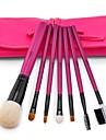 msq®7pcs chevre naturel maquillage de brosse a cheveux regle avec sac