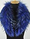 Women\'s Trendy Real Genuine Raccoon Fur Collar Scarf Wrap