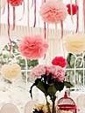 8 tums papper blomma festdekorationer - set om 4 (fler färger)
