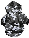 Cat / Dog Hoodie Black Winter Camouflage