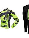 MOON® Cykeltröja och tights Lång ärm CykelAndningsfunktion / Håller värmen / Anatomisk design / Fleecefoder / Ultraviolet Resistant / 3D
