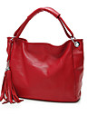 Women PU Shopper Tote - Blue / Red / Black / Khaki