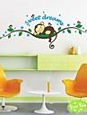zooyoo® avtagbar färgglada söta apor sova på gren 3d väggen klistermärke heminredning väggdekorationer för barn / vardagsrum